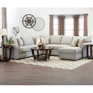 Klaussner Comfy Sectional Sofa w/ RAF Chaise