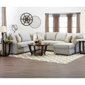 Klaussner Comfy Sectional Sofa w/ RAF Chaise - Item Number: 36330LCRNS+ALS+RCHASE-LUCA ASH
