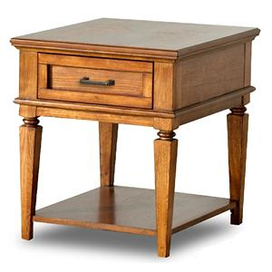 Morris Home Furnishings Concord Green Oak End Table