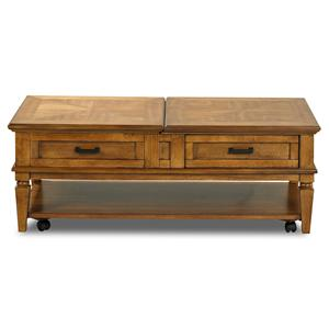 Morris Home Furnishings Concord Green Oak Cocktail Table
