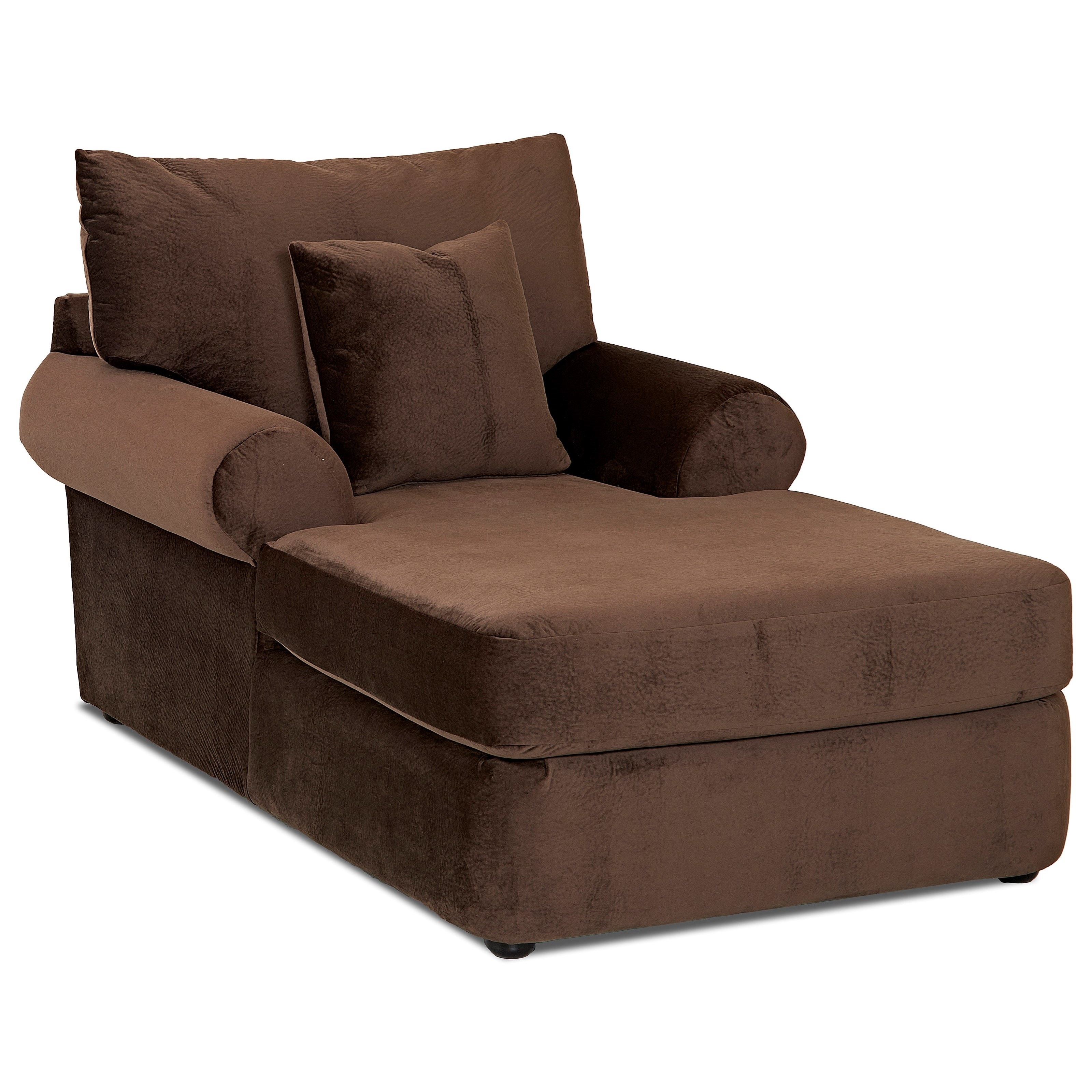chaise lounge chair klaussner cora k41200 casual plush chaise lounge 10147