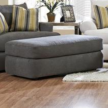 Cora Large Plush Cocktail Ottoman by Klaussner