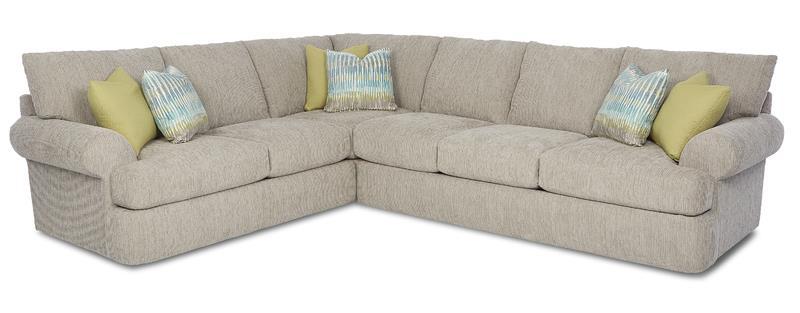 Klaussner Cora Casual 2 Piece Corner Sectional | Wayside Furniture ...
