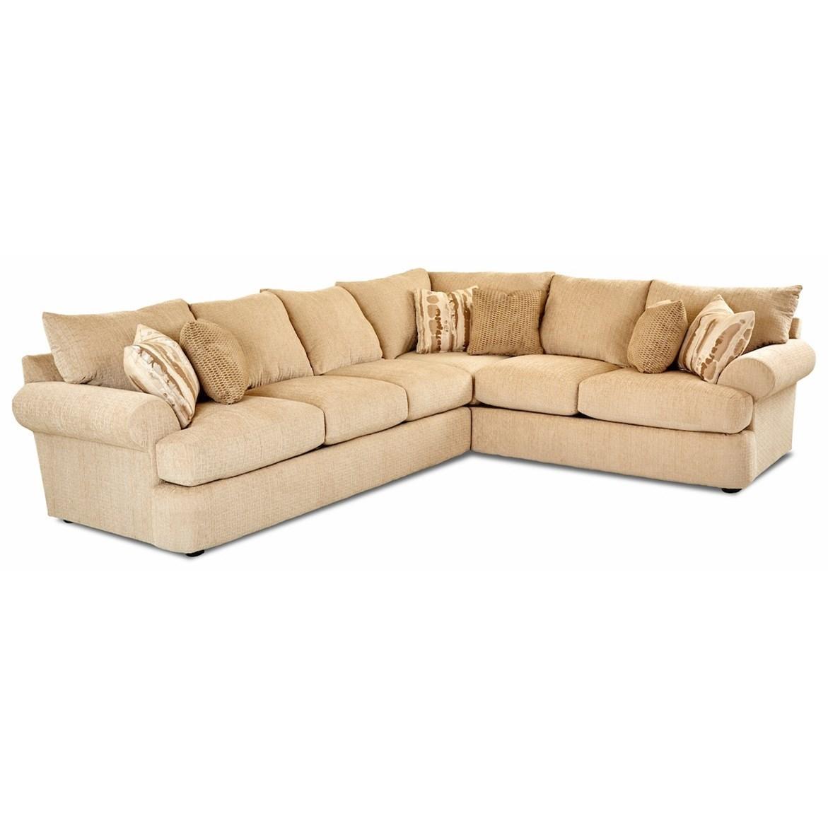 2 Piece Corner Sectional w/ LAF sofa
