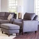Klaussner Cortland Chair & Ottoman Set - Item Number: 95700 C+95700 OTTO-ALUNA CHARCOAL