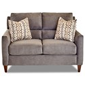 Klaussner Cortland Contemporary Loveseat with Pillows