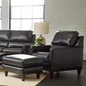 Klaussner Cortland Chair & Ottoman Set - Item Number: LOT95700 C+LO95700-DAKAR CHARCOAL