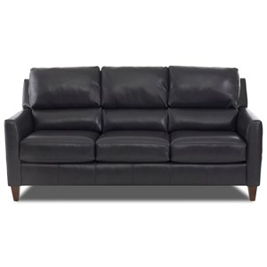 Klaussner Cortland Leather Sofa