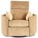 Klaussner Cosmo Power Reclining Swivel Chair - Item Number: 73308 PRSWV-WINK CASHMERE