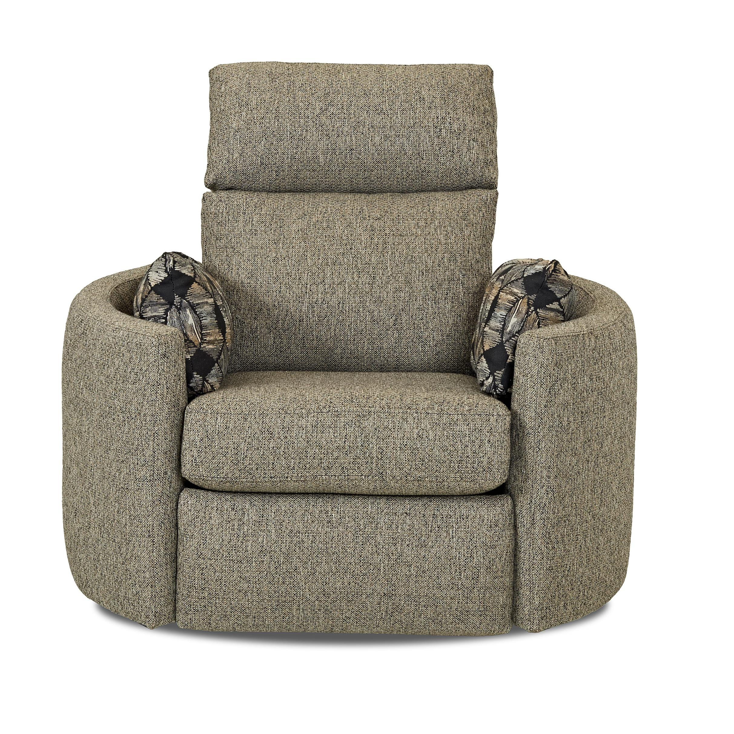 Klaussner Cosmo Reclining Swivel Chair - Item Number: 73308 RSWVL-MARV-STON