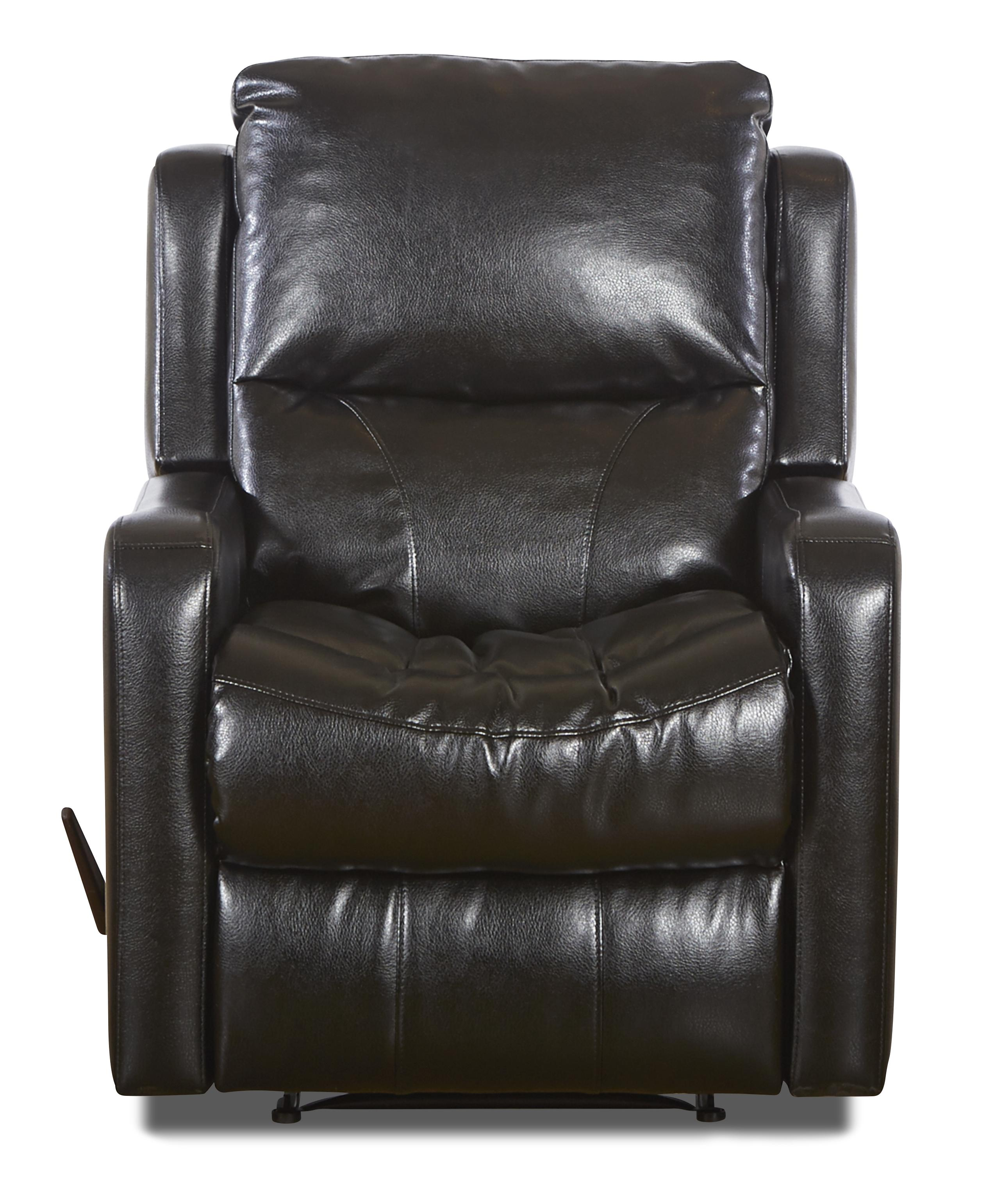 Klaussner Cruiser Transitional Reclining Chair - Item Number: LBV82903H RC-HudsonBlack