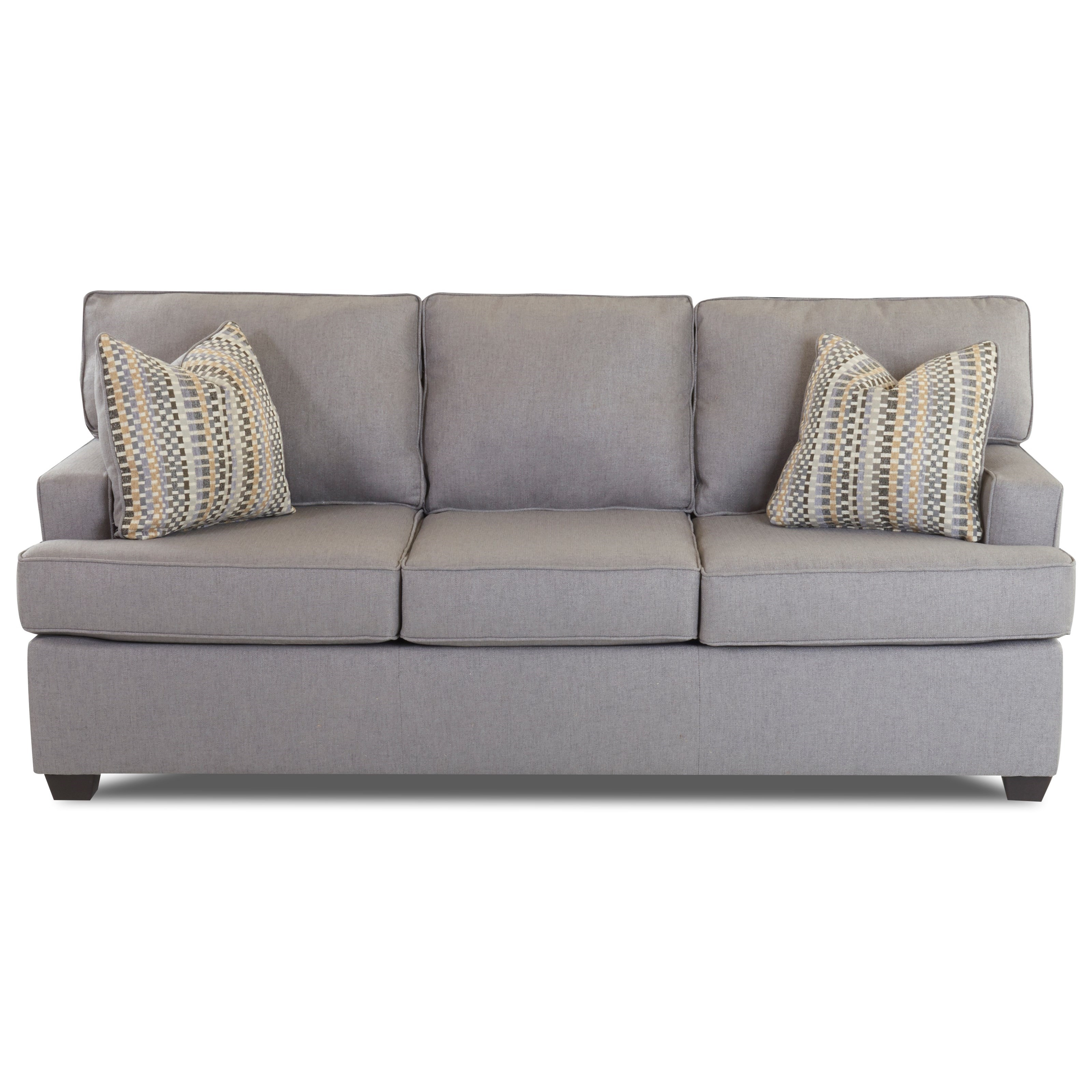 Klaussner Cruze Contemporary Sleeper Sofa With Track Arms