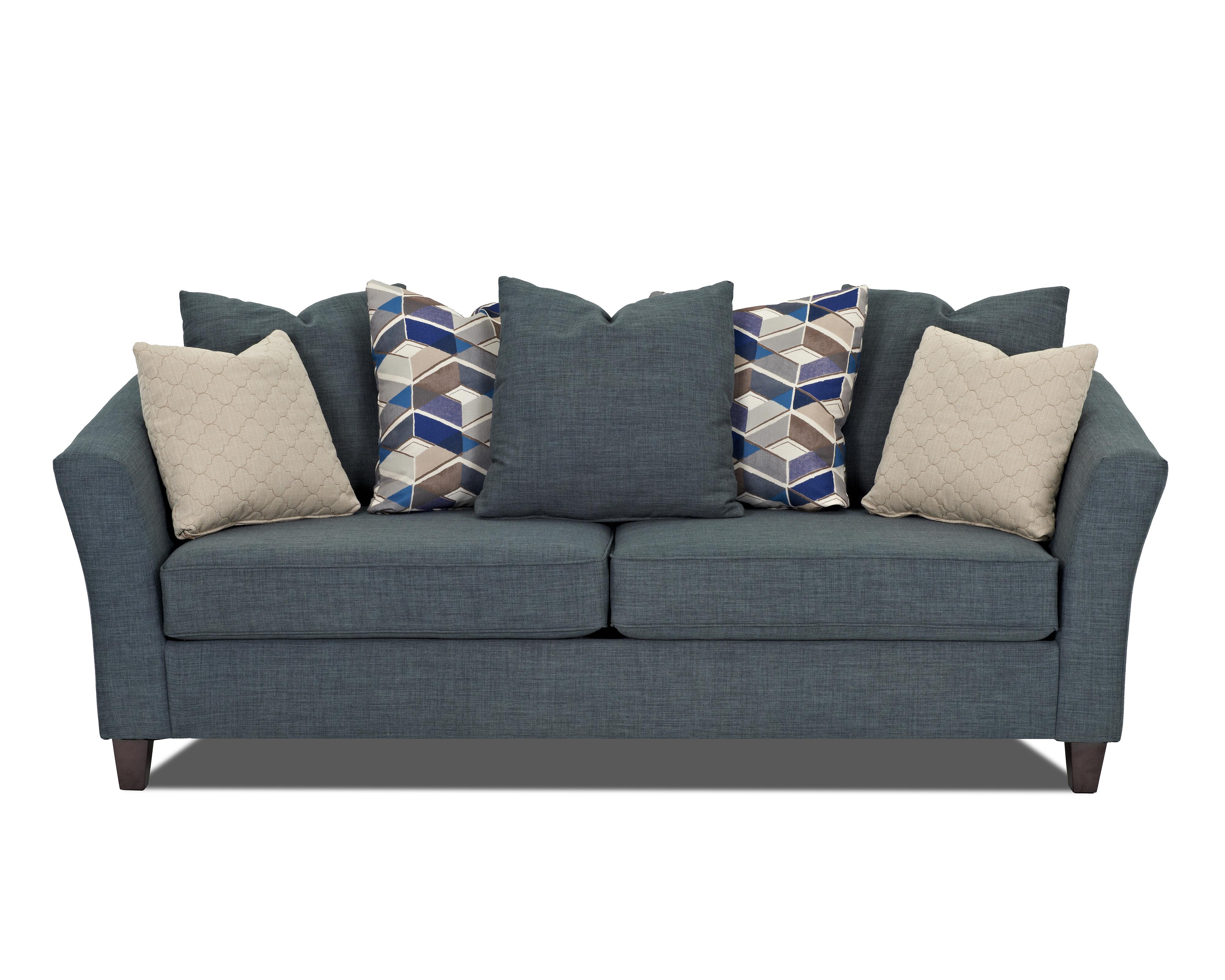 Klaussner Culpepper Sofa - Item Number: K40000 S-Fand-Turq