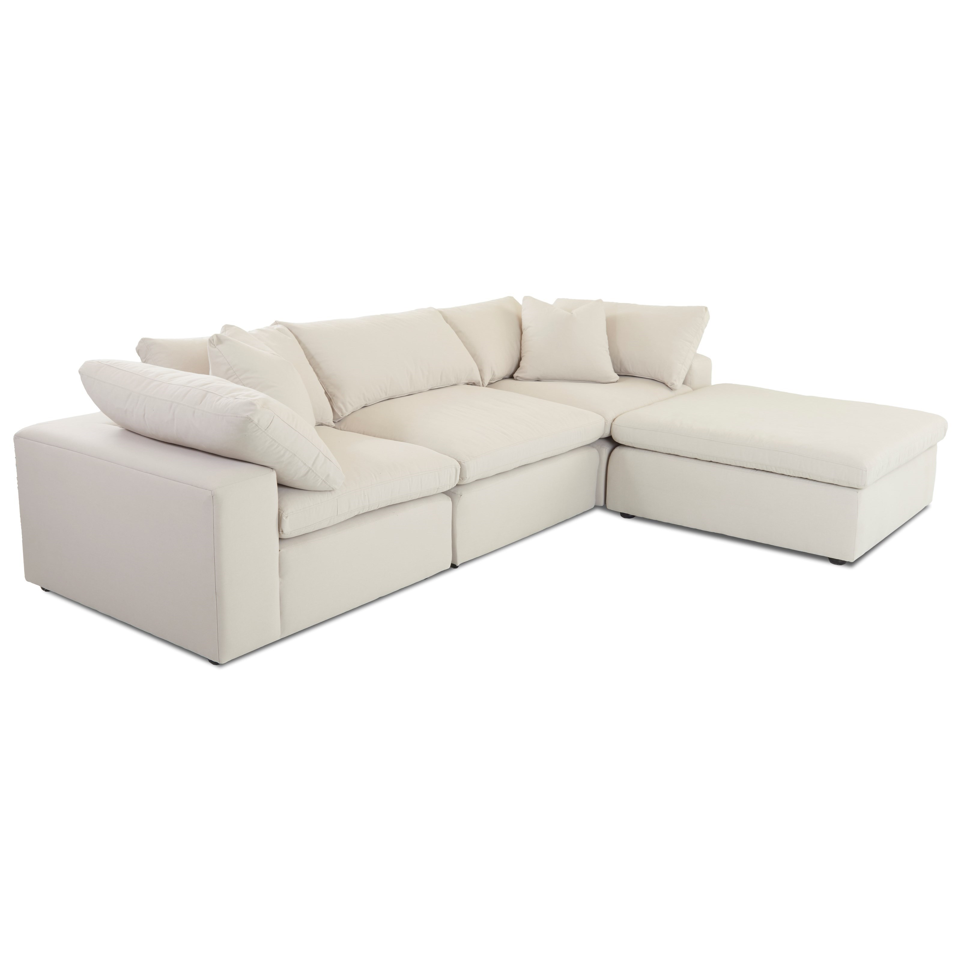 Klaussner Monterey Contemporary 4 Pc Modular Sectional