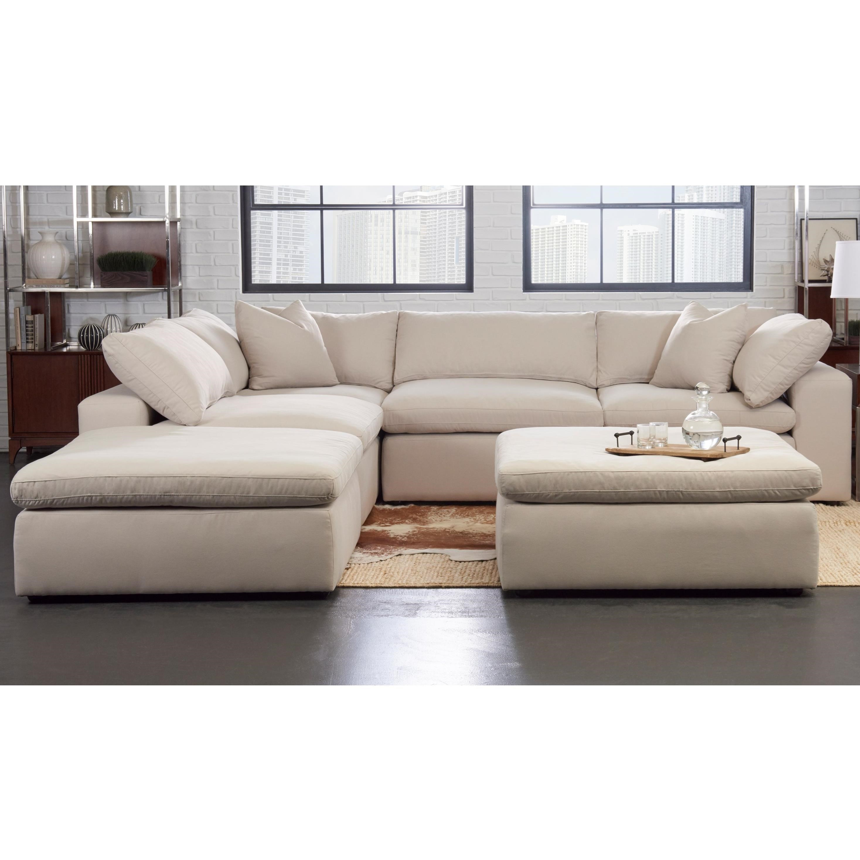 Klaussner Monterey Contemporary 5 Pc Modular Sectional
