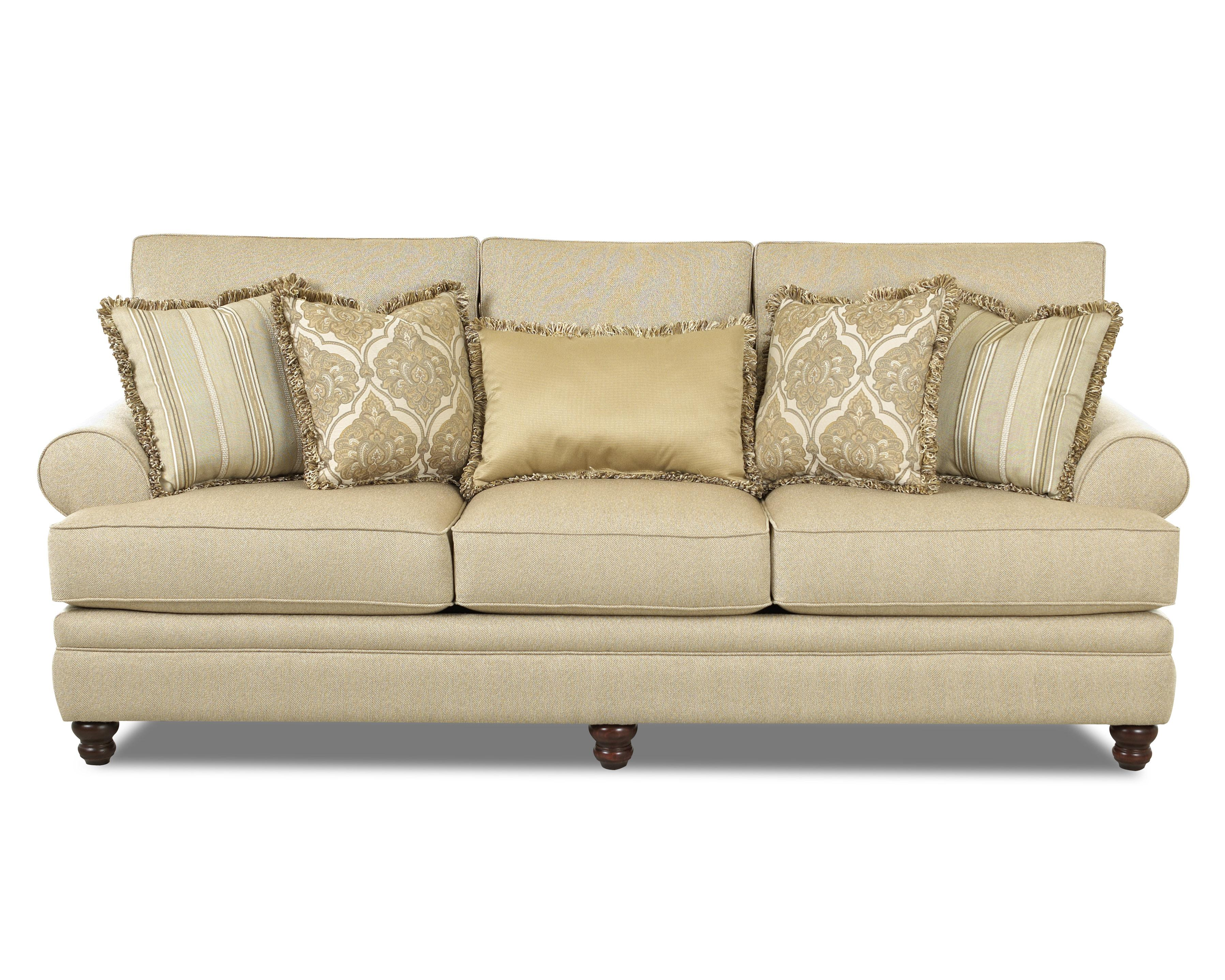 Klaussner Darcy Rolled Arm Sofa   Item Number: K33230F S