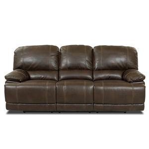 Morris Home Furnishings Darius Leather Reclining Sofa