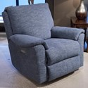 Klaussner Davos Reclining Rocking Chair - Item Number: 94003H RRC-BEANE DENIM