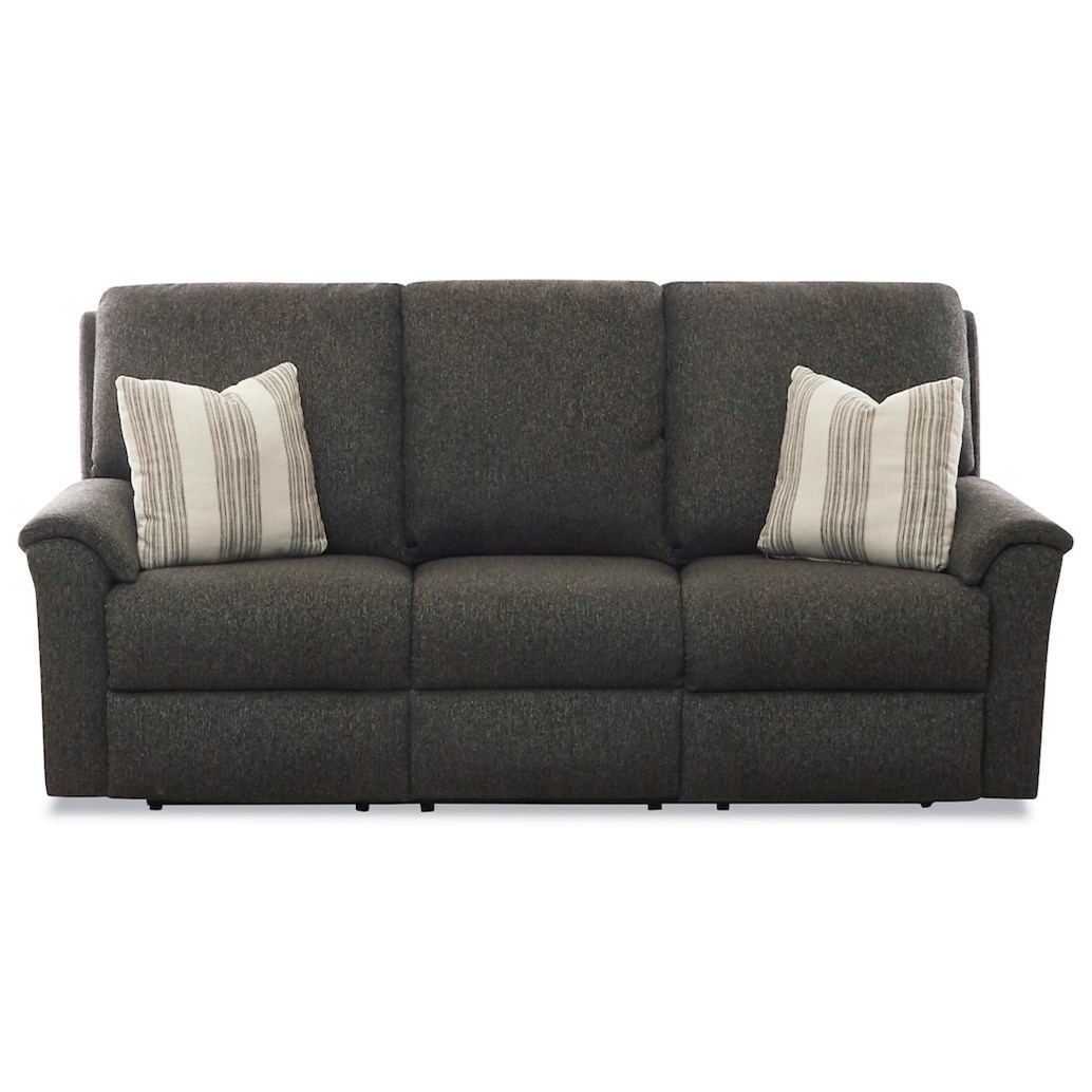Davos Power Recline Sofa w/ Pillows & Pwr Headrest by Klaussner at Northeast Factory Direct