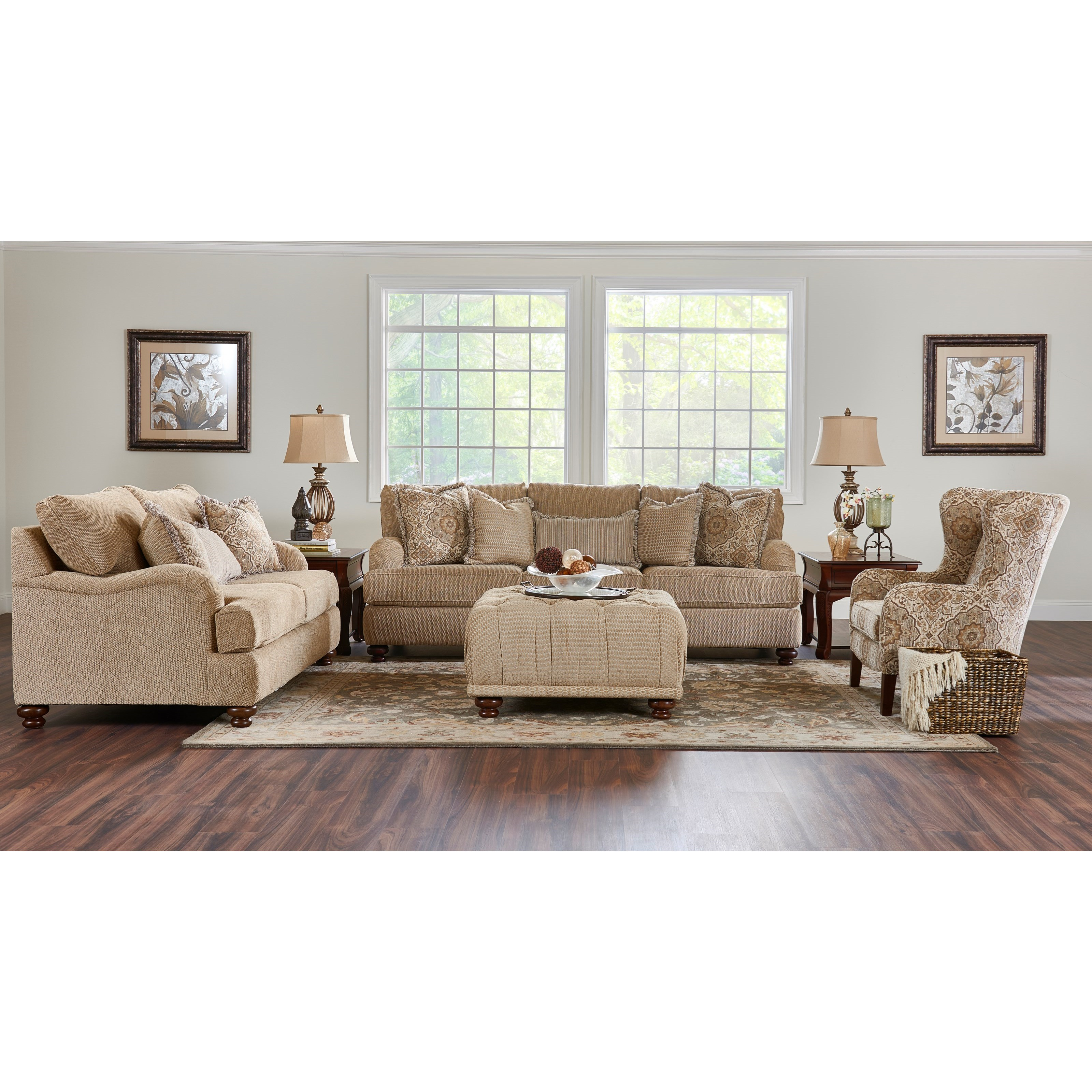 Klaussner Declan Living Room Group Value City Furniture Stationary Living Room Groups