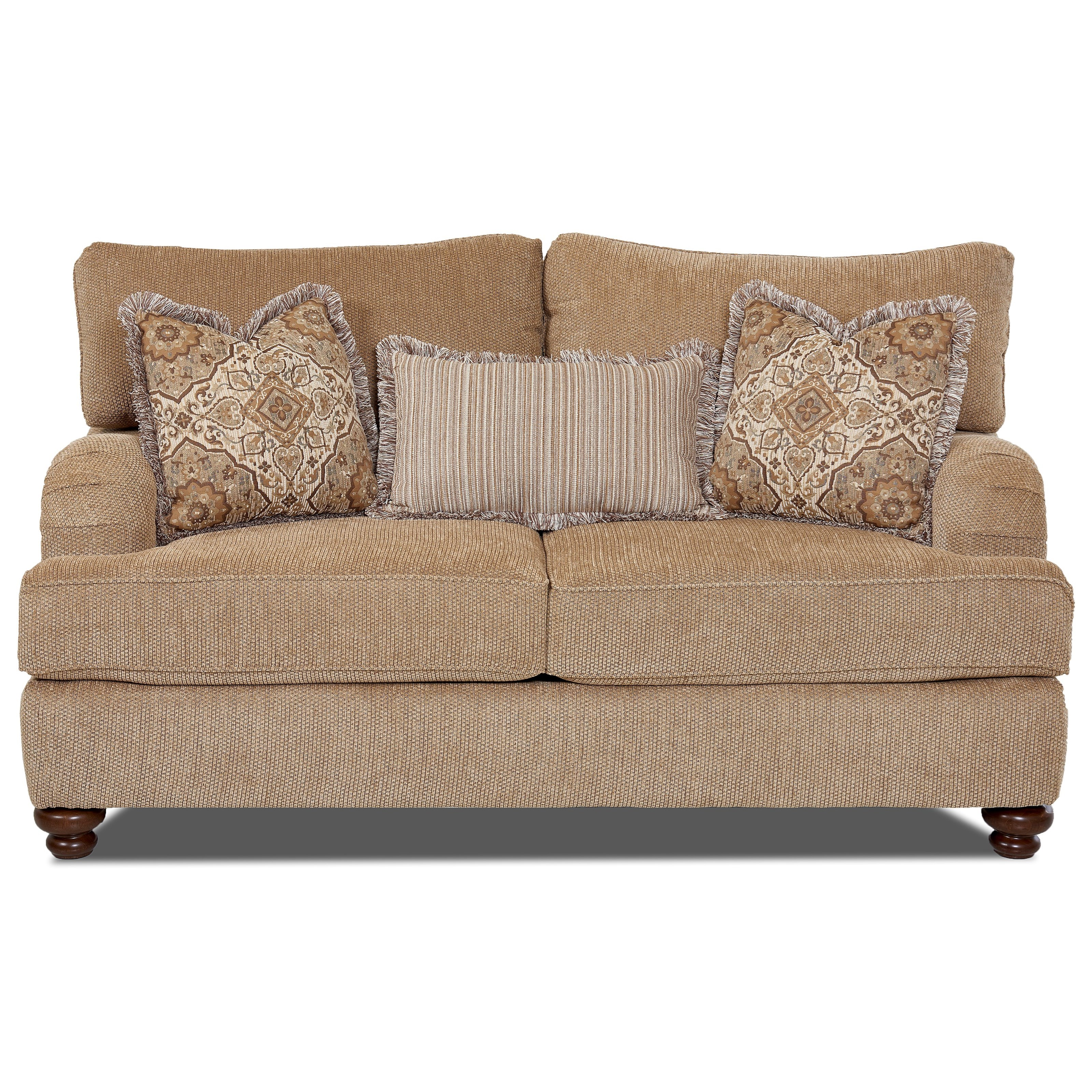 Klaussner Declan  Loveseat - Item Number: OK42200F LS Frenzy Cashmere