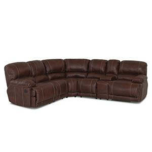 Klaussner Derek Reclining Sectional Sofa