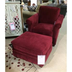 Klaussner Dopler Chair & Ottoman