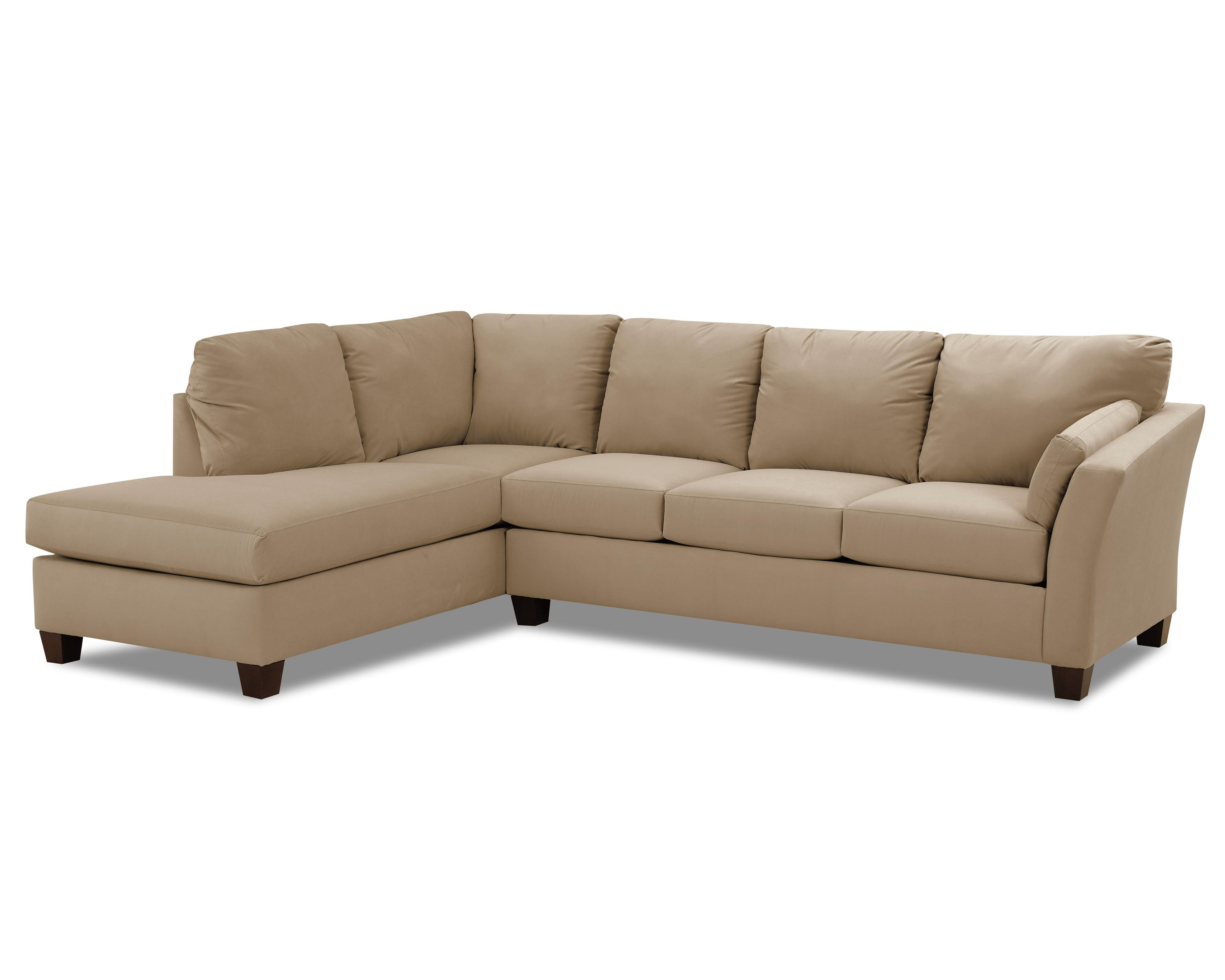 Klaussner Drew Two Piece Sectional Sofa - Item Number: E16LCHASE+E16RS-LibreTaupe