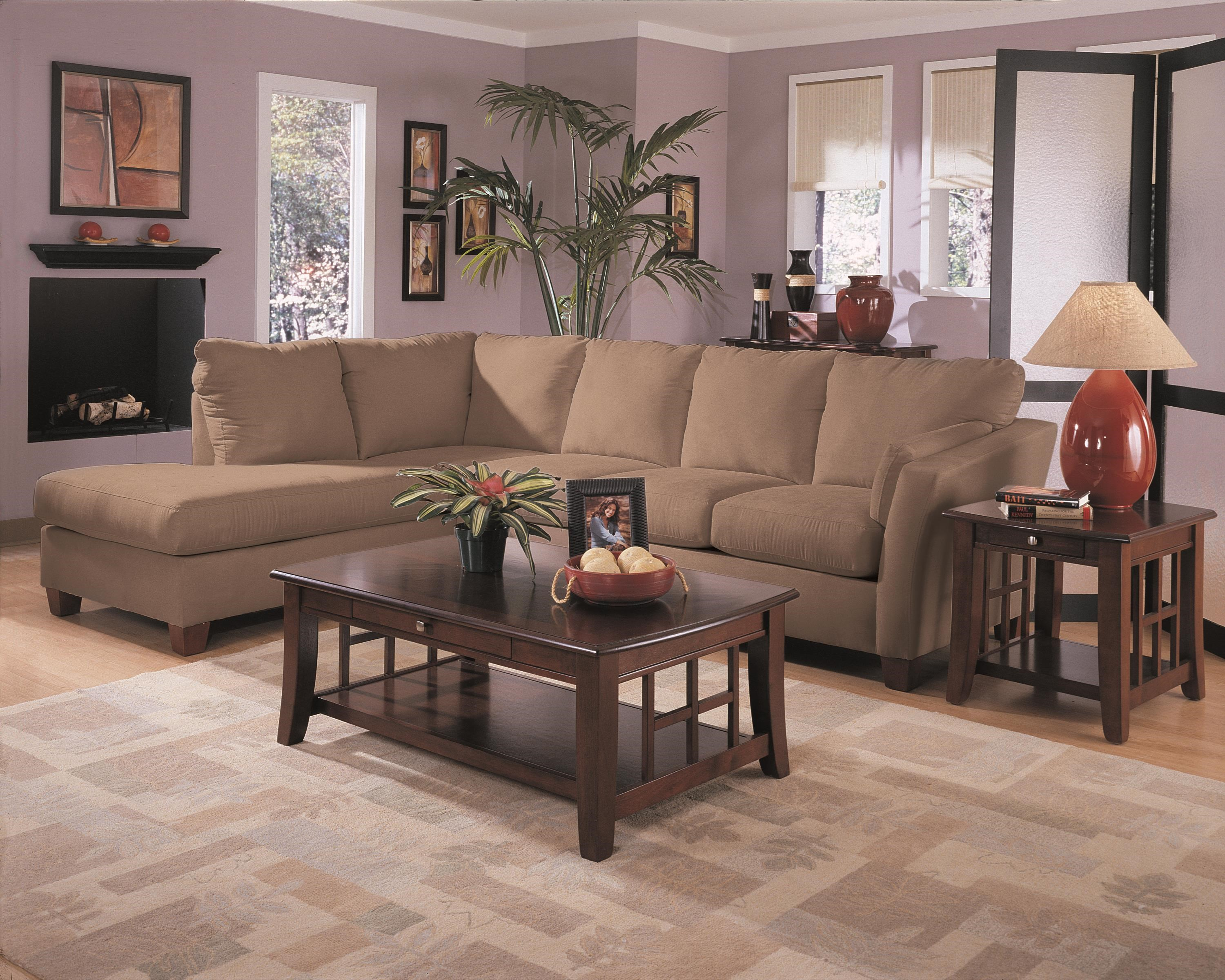 Klaussner Drew 2-Piece Sectional  - Item Number: E16LCHASE+E16RS-LibreEarth