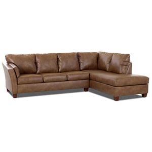 Klaussner Drew E16 Two Piece Sectional Sofa
