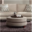 Klaussner Duchess Transitional Double Disc Stacked Cushion Ottoman - D40600 OTTO