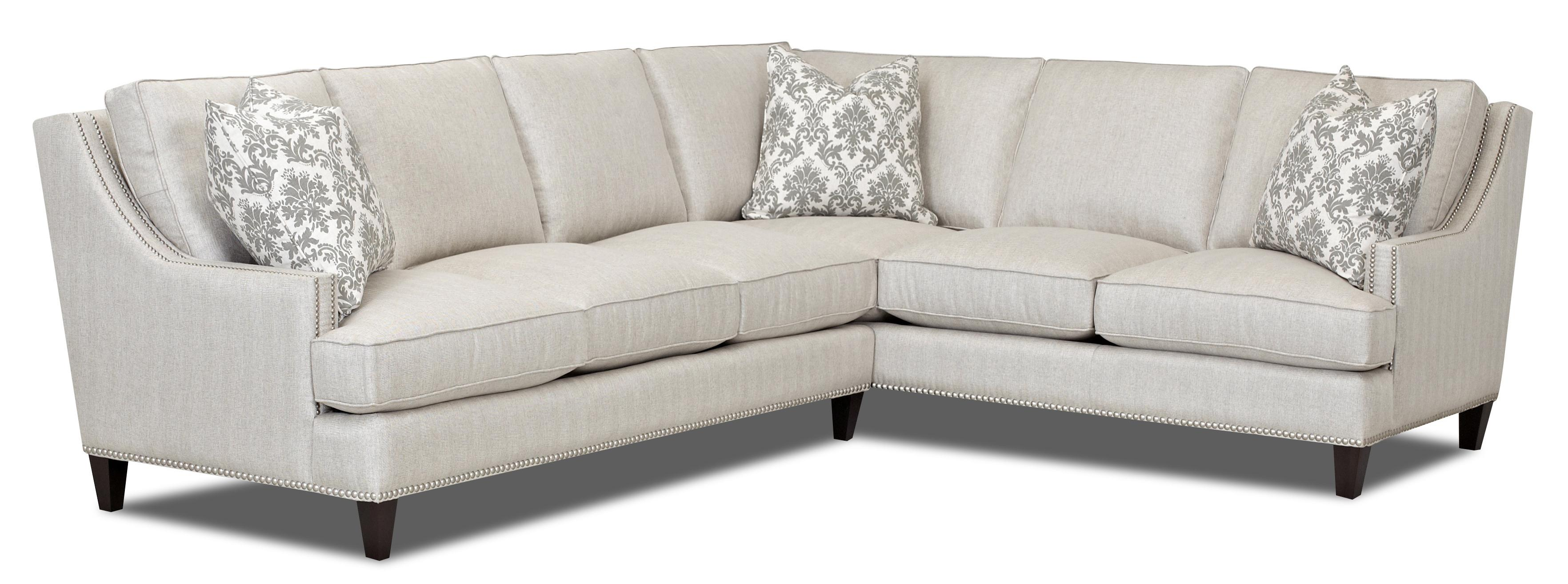Klaussner Duchess Transitional 2 Piece Sectional   AHFA   Sofa Sectional  Dealer Locator