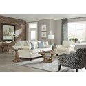 Klaussner Eden Transitional Chair with Nailhead Trim