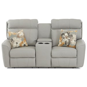 Klaussner Elara Console Reclining Loveseat w/ Pillows