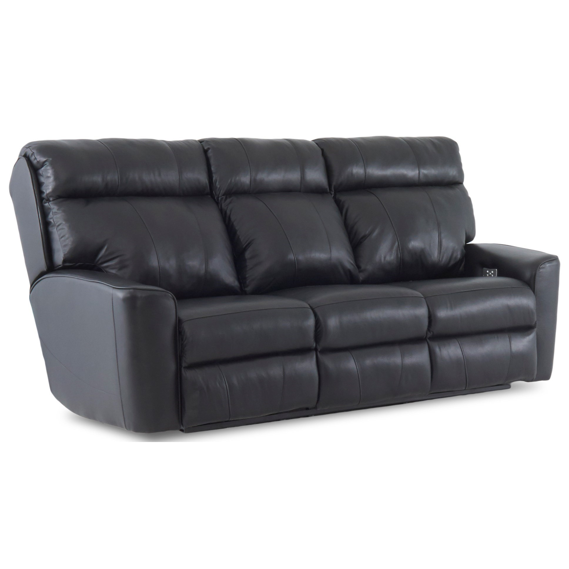 Klaussner Elara Casual Power Headrest Reclining Sofa With