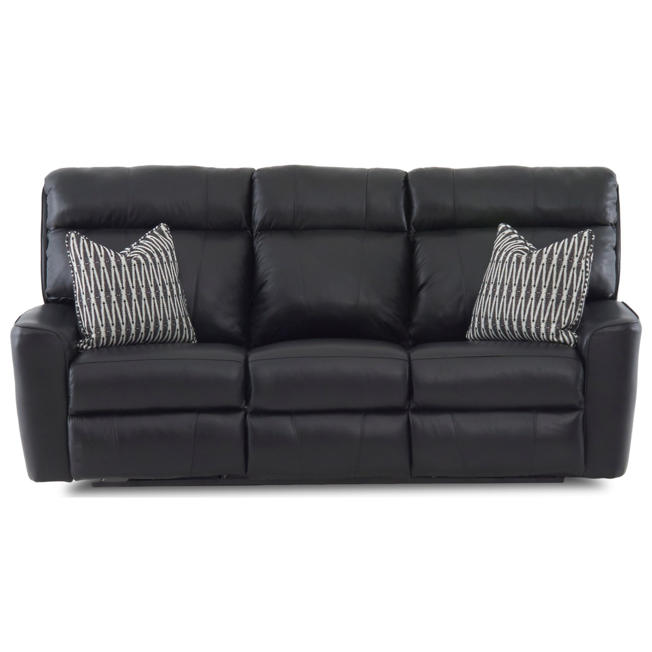 Reclining Sofa w/ Pillows
