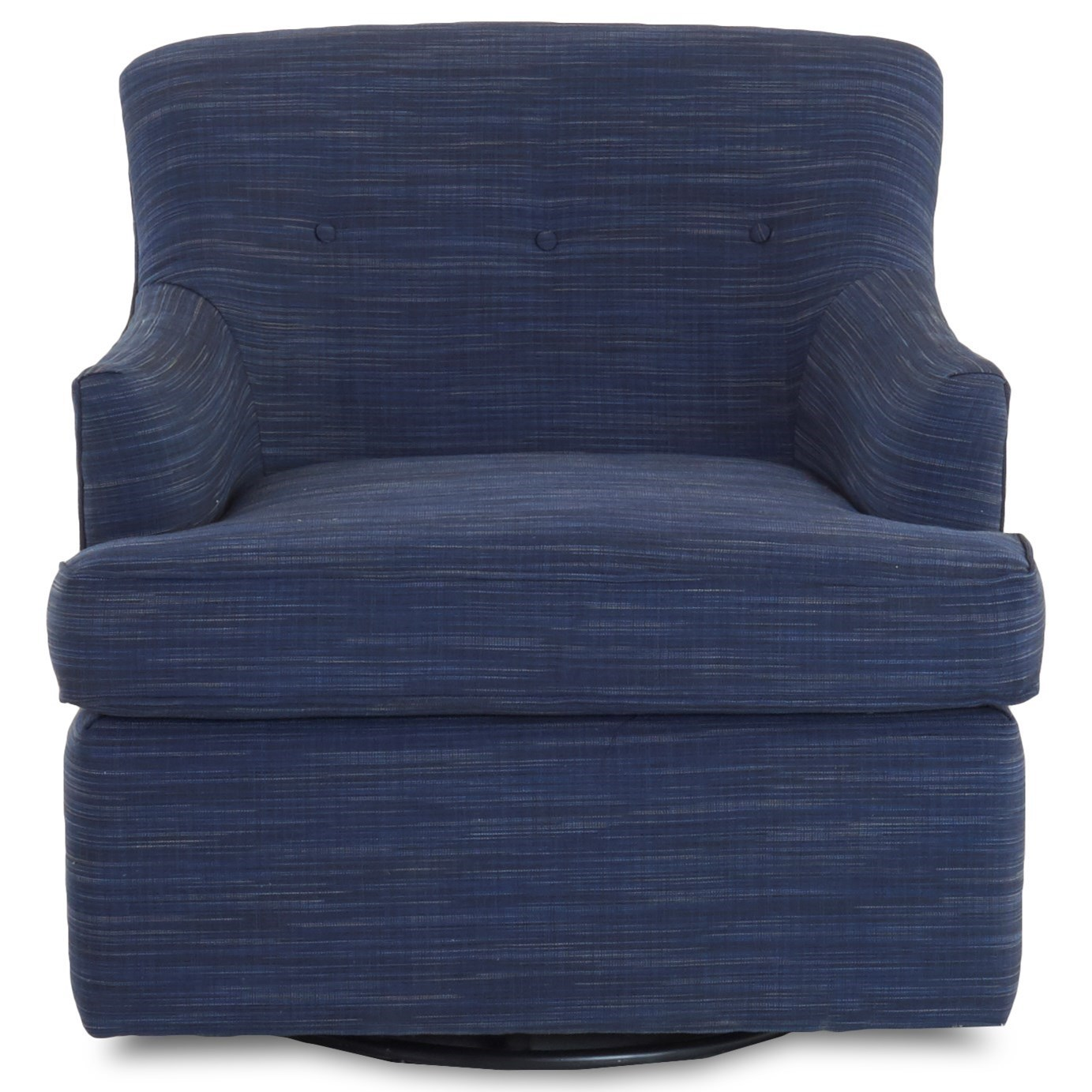 Elizabeth Swivel Glider Chair by Klaussner at Johnny Janosik