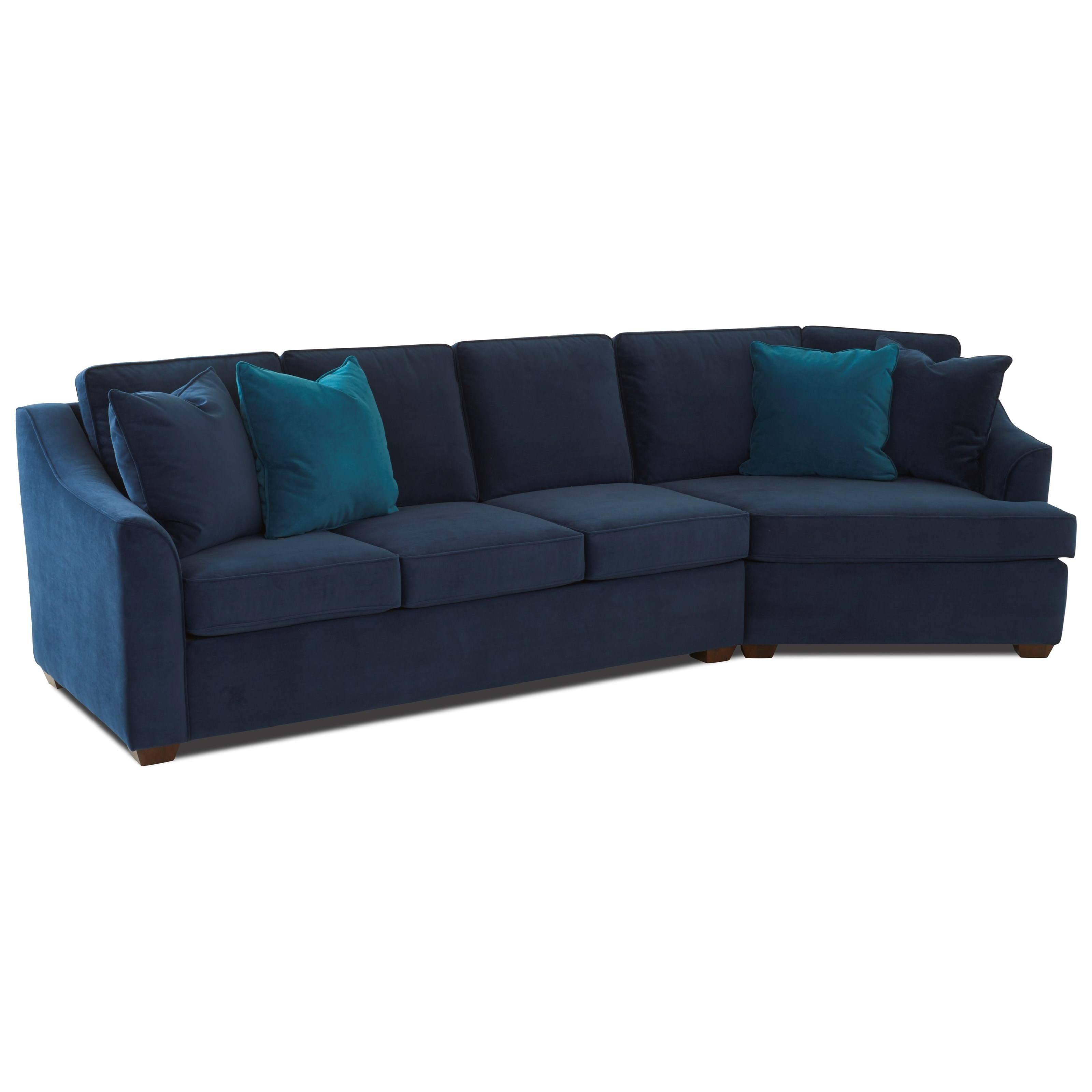 Klaussner Elle Transitional 2 Piece Sectional With Raf