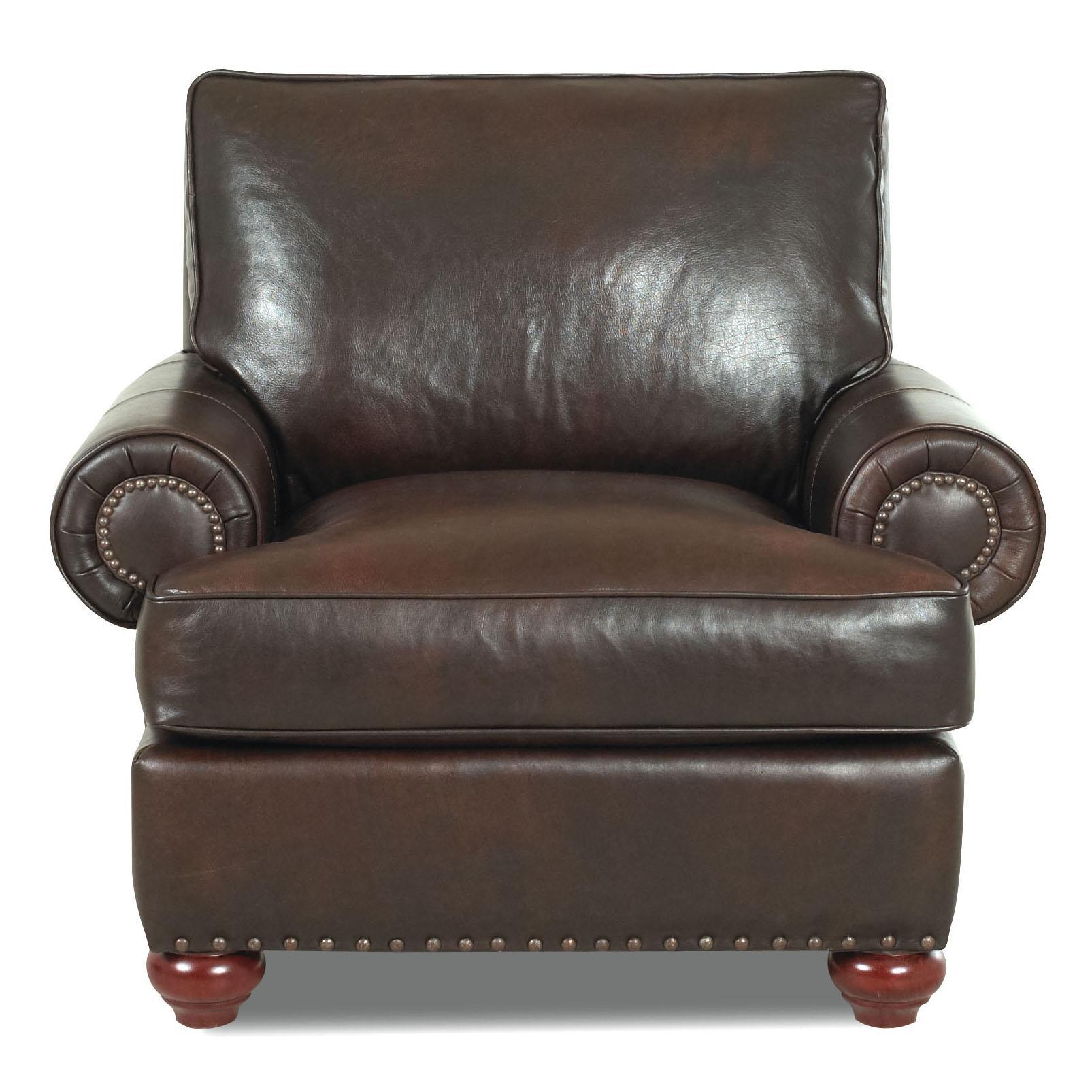 Klaussner Ellington  Leather Chair - Item Number: LD22610C