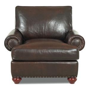 Simple Elegance Ellington  Leather Chair