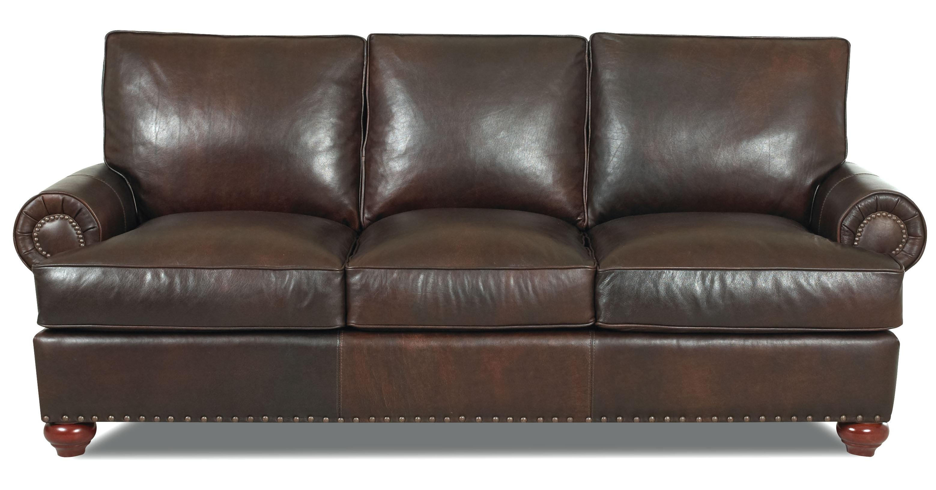Klaussner Ellington  Classic Leather Sofa - Item Number: LD22610S