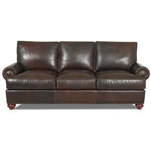 Elliston Place Ellington  Classic Leather Sofa