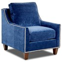 Klaussner Emmy Transitional Chair with Nailhead Trim - Fabric shown no longer available from manufacturer