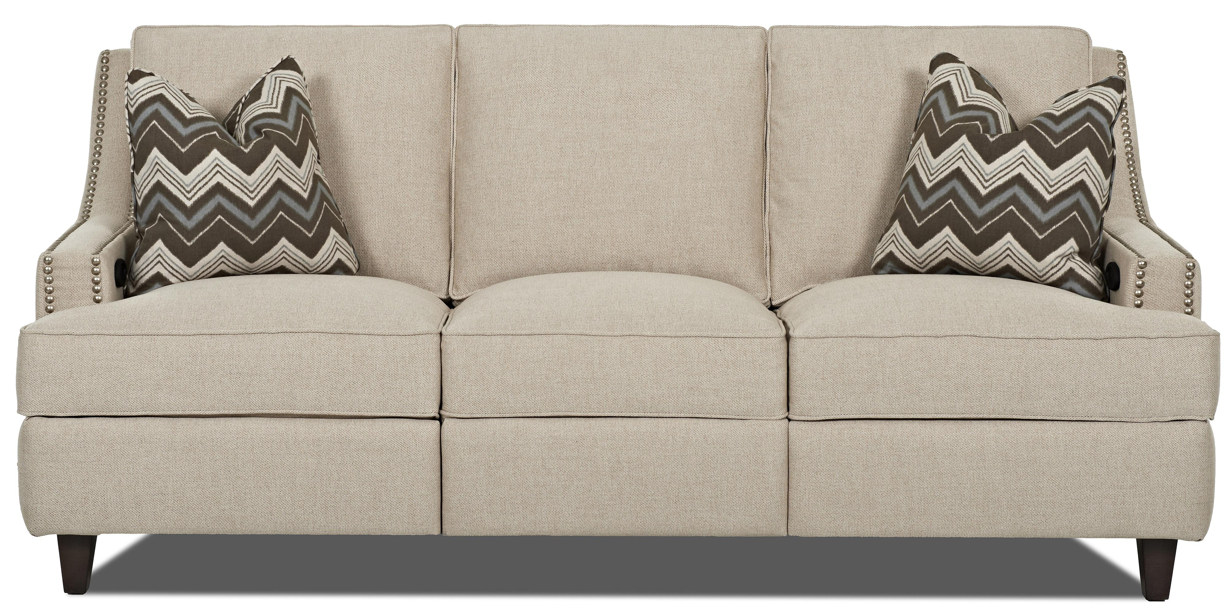Klaussner Empress Power Hybrid Sofa - Item Number: D78313 PWHS-DeauvilleVanilla