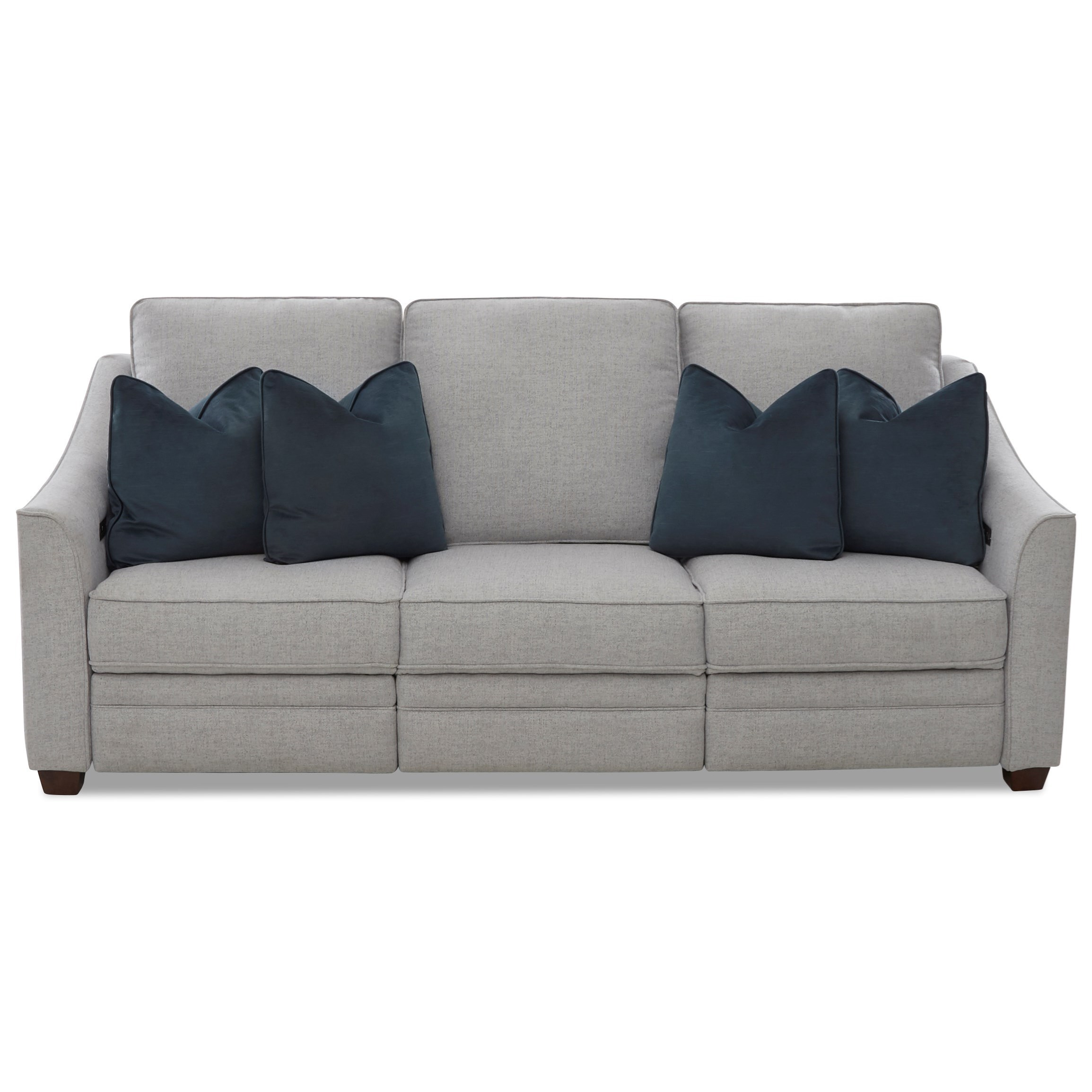 Ensley Power Hybrid Sofa w/ Pwr Headrests by Klaussner at Johnny Janosik