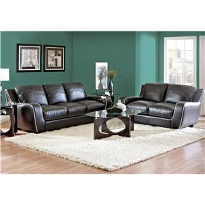 Morris Home Furnishings Ezekial 2 Piece Stationary Living Room Set