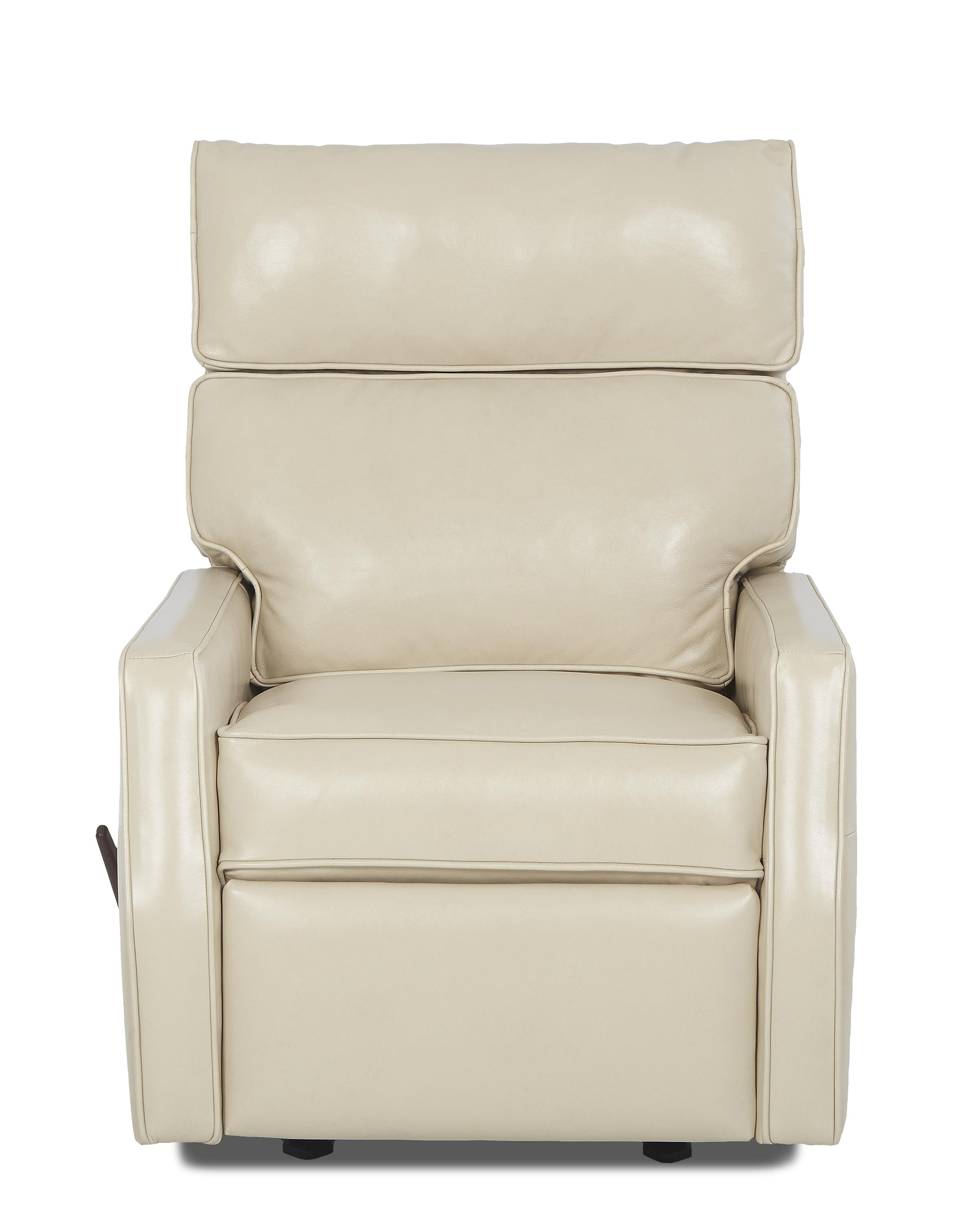 Klaussner Fairlane Contemporary Gliding Reclining Chair - Item Number: LV82803H GLRC-OutsiderAlabaster