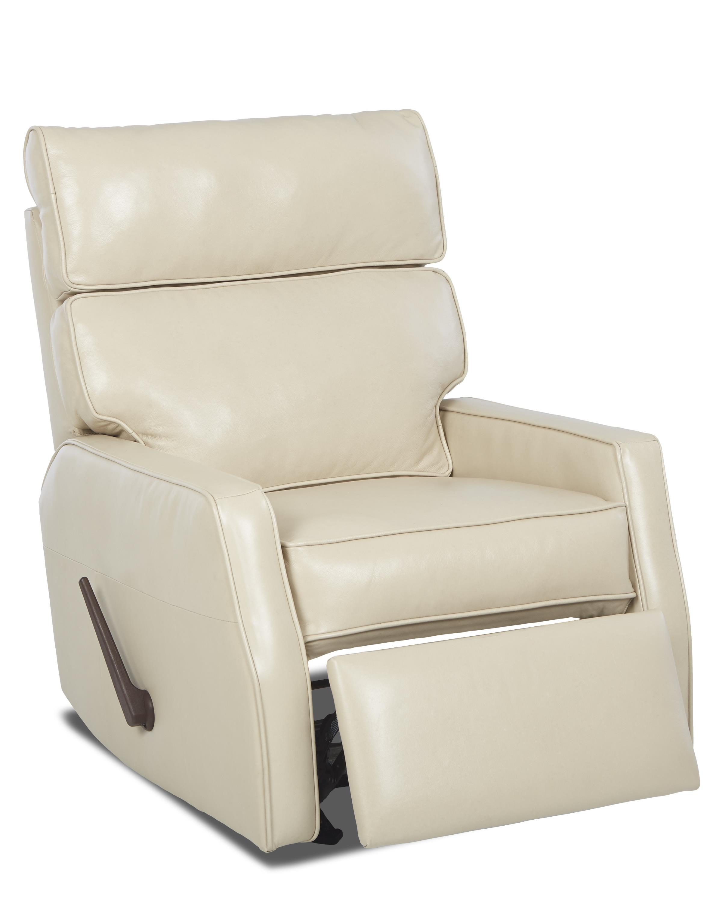 Fairlane contemporary swivel rocking reclining chair by for Modern swivel chair