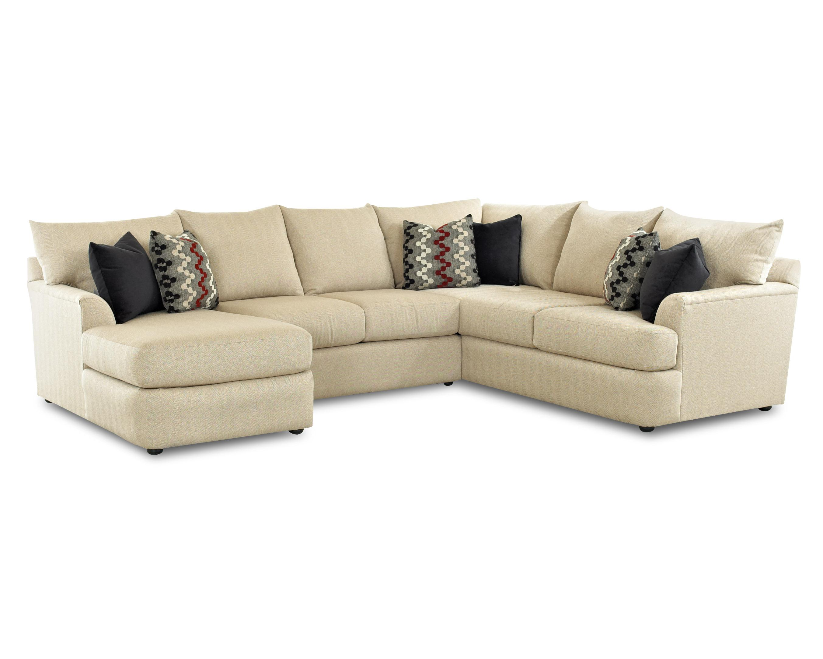 living room with chaise klaussner findley sectional sofa with left side chaise 15177