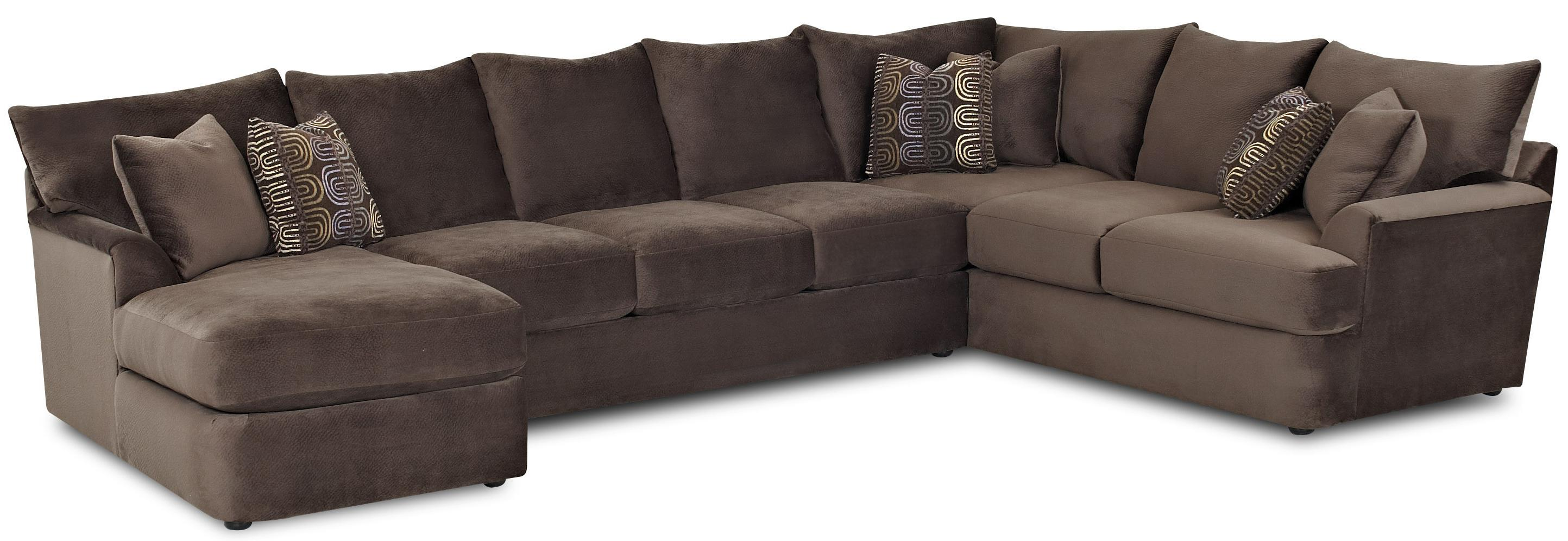 Klaussner Findley L Shaped Sectional Sofa with Left Chaise AHFA